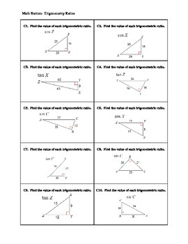 Right Triangle & Trigonometry Stations Review