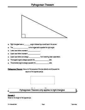 Trigonometry Student Notes