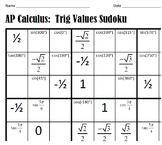Trigonometry Sudoku!