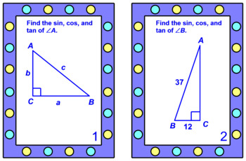 "TRIGONOMETRY TASK CARDS:  ""GOOGLE SLIDES"", SMARTBOARD, POWERPOINT"