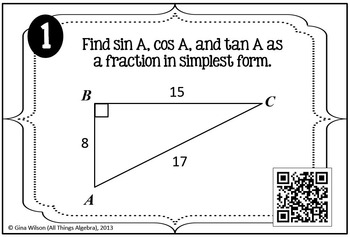 Right Triangle Trigonometry Task Cards