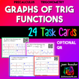 PreCalculus Transformation of Trignometric Functions and Graphs Task Cards QR