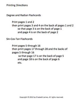 Trigonometry Unit Circle Flashcards
