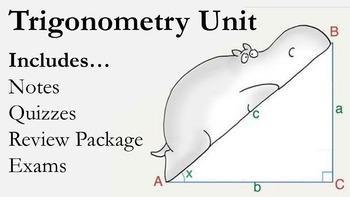 Trigonometry Unit (Notes, Quizzes, Review, Exams)