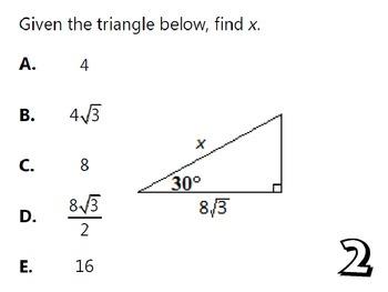 Trigonometry Unit Review Activity