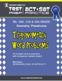Trigonometry Word Problems - CST ACT SAT Test Prep & Practice