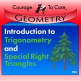 Trigonometry and Special Right Triangles (TR3): HSG.SRT.C.6, HSG.SRT.C.8