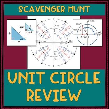 Unit Circle Review Scavenger Hunt