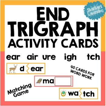 Trigraph Activity Card Games PACK - beginning & end trigraphs scr, str + more