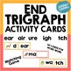 Trigraph Activity Card Games PACK - for word work or readi