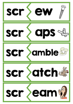 Beginning Trigraph Activity Card Games - for word work or reading practice