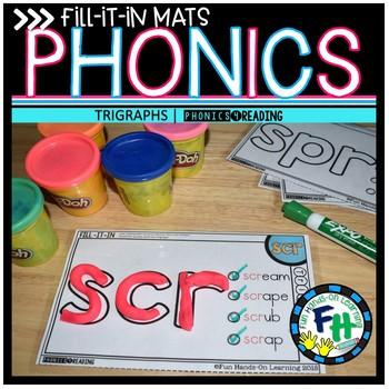 Trigraph Phonics Fill-It-In Mats