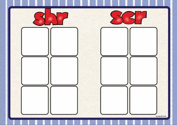 Trigraph Sorting Activity: shr, scr, spl, spr, squ,str