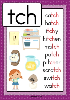 Trigraph TCH: Phonics Word Work {Multiple Phonograms}
