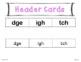 Trigraph Word Sort Grades 1-3