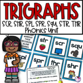 Trigraphs 3 Letter Blends SCR, SHR, SPL, SPR, SQU, STR, THR