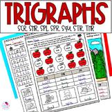 Trigraphs 3 Letter Blends SCR, SHR, SPL, SPR, SQU, STR, THR