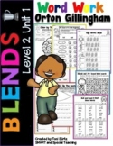 Second Grade Phonics Digraphs and Blends Worksheets Level 2 Unit 1 (RTI)
