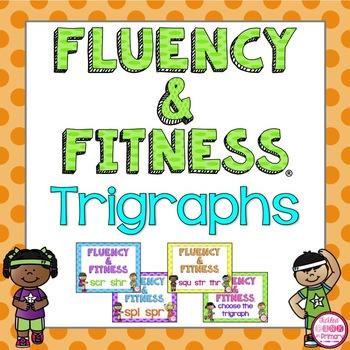 Trigraphs (3 Letter Blends) Fluency & Fitness Brain Breaks Bundle