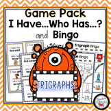 Trigraphs 3 Letter Blends I Have Who Has and Bingo Games