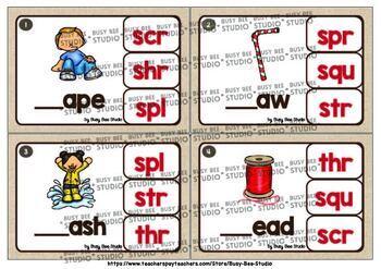 Trigraphs (3 letter blends) Clip Cards