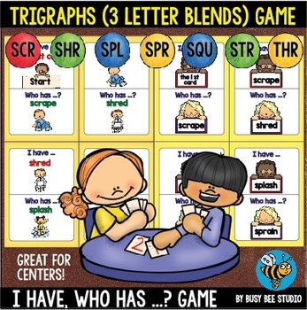 "Trigraphs (3 letter blends) Game ""I have, who has"""