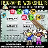 Trigraphs (3 letter blends) Worksheets