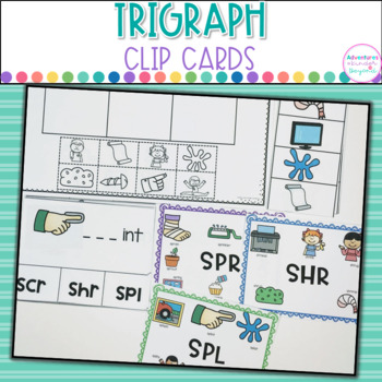 Trigraphs- Clip Cards, Anchor Charts and Printables