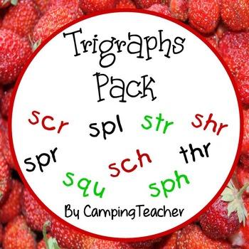 Trigraphs Pack thr, sch, scr, shr, sph, spl, spr, squ, str