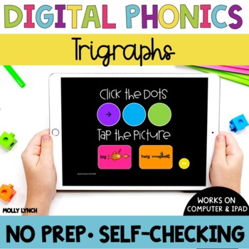 Distance Learning Trigraphs Sound Tappers - Digital Phonics PowerPoint Games