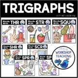 Trigraphs Value Bundle Clip Art - Whimsy Workshop Teaching