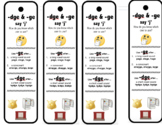 Trigraphs- dge and tch bookmarks