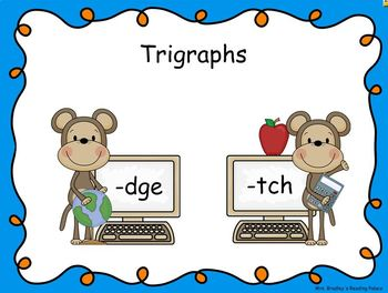 Trigraphs -dge & -tch Smart Notebook Mini Lesson
