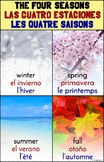 Trilingual Four Seasons Poster – English, Spanish, and French