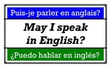 Trilingual (French Spanish English) General Classroom Expressions