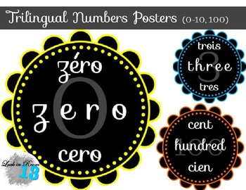 Trilingual Numbers 0-10, 100