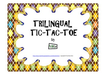 Trilingual Tic-Tac-Toe (Numbers)