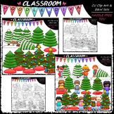 Trim A Tree - Clip Art & B&W Set