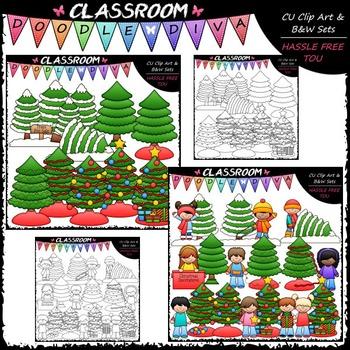 Trim A Tree Clip Art - Sequencing Clip Art & B&W Set