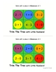 Trim The Tree with Little Numbers!  Math Add/Subtract sums of 1-6