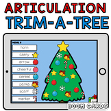 Trim a Christmas Tree Boom Cards Speech Therapy Articulation