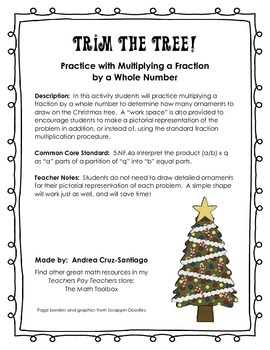Trim a Christmas Tree - Practice with Multiplying a Fracti