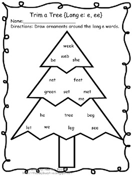 Trim a Tree {long and short vowels}