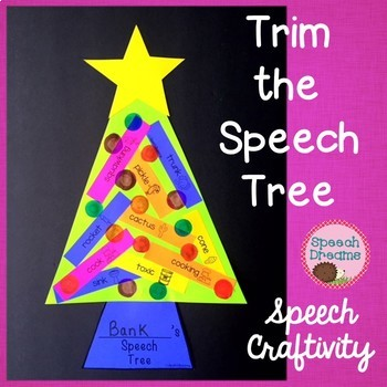 Trim the Christmas Speech Tree Therapy Craftivity {language & articulation}