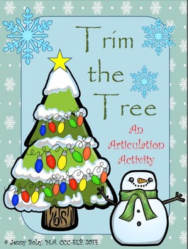 """Trim the Tree"": A Christmas Articulation Activity"