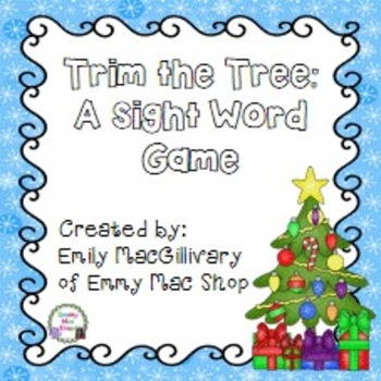 #2forTuesday Trim the Tree !!! A Christmas  High Frequency Word Game