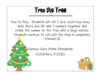 Trim the Tree - A Roll and Cover Activity
