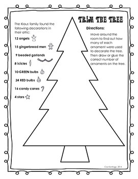"Trim the Tree ""Around the Room""  Multiplying a Fraction by a Whole Number"