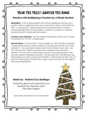 """Trim the Tree """"Around the Room""""  Multiplying a Fraction by"""