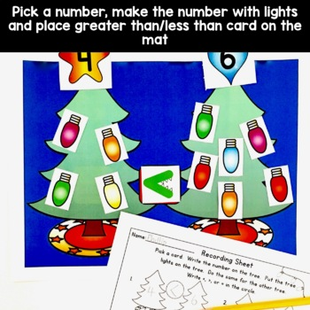 Comparing Numbers: Greater Than, Less Than, Equal Christmas Trees!